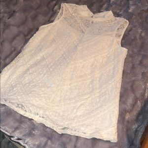 Tops - White lace blouse. NWOT